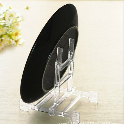 Adjustable Display Stand Easel Plate Holder Picture Photo Frame Art Clear