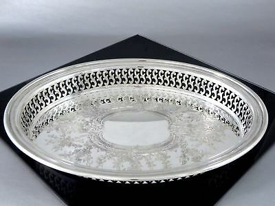 Charming Vintage Wm.A.ROGERS Silverplate SMALL GALLERY TRAY