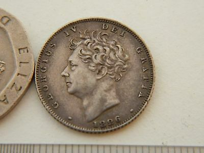 George IV Sixpence 1826 lion on crown S.3815