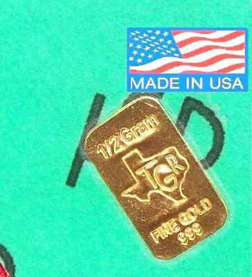 GOLD 6 BARS  PREPPER PERFECT COMBO 999 TGR BULLION 7 G TOTAL .25 OUNCE Approx !.