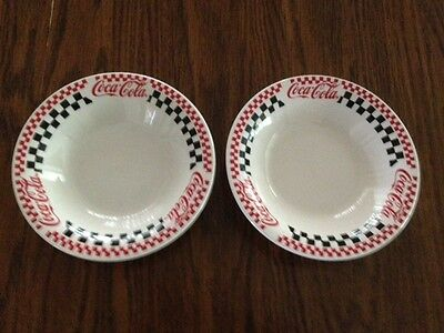 Coca Cola Gibson Soup/vegetable Bowls - Set Of Two - Excellent Condition