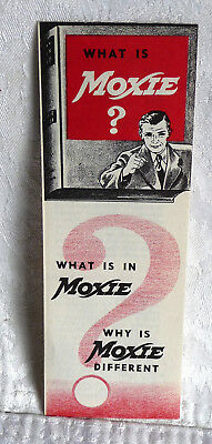 1930's What is Moxie? Carton Stuffer. Never Used