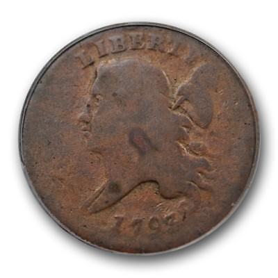 1793 Liberty Cap Half Cent PCGS G 4 Good First Year US Type Copper Coin