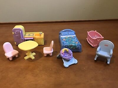 fisher price my first dollhouse furniture lot kitchen bedroom baby
