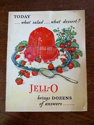 1928 Jell-O Basics Cookbook Recipes Ad Booklet America's Most Favorite Dessert