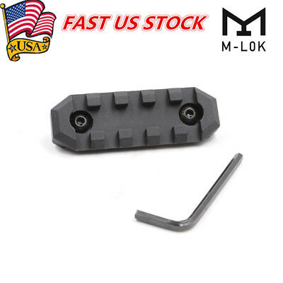 5 Slots M-lok Handguard Rail Section Picatinny Weaver Rail Base Adapter Nut US