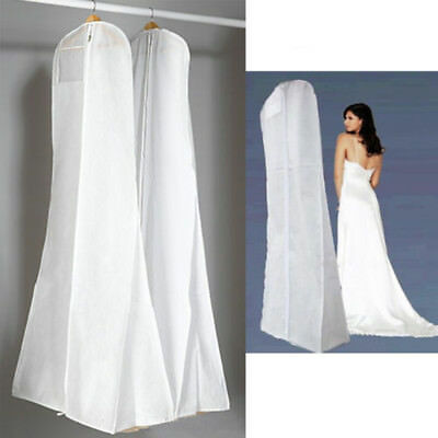 Wedding Dress Bridal Gown Garment Zip Dustproof Breathable Cover Storage Bag New