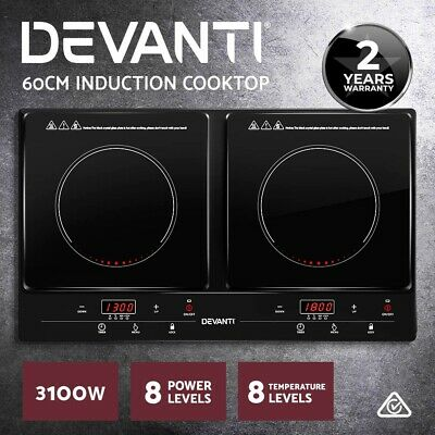 Devanti 2000W Electric Ceramic Tower Fan Heater Portable Oscillating Remote BK