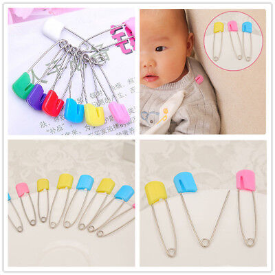 100 Pcs Large Nappy Diaper Pins Nappies Safety Pin Baby Diaper Change Fast F2K6