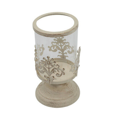 Pillar Candle Holder Candlestick with Glass Dome for Home Wedding Decoration