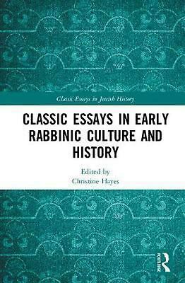 Classic Essays in Early Rabbinic Culture and History Hardcover Book Free Shippin