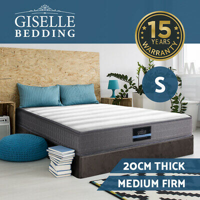 Giselle Bedding SINGLE Size Bed Mattress Tight Top Bonnell Spring Foam 20CM