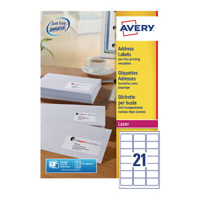 Avery Quickpeel L7160-250 Laser Address Labels (Pack of 5250)