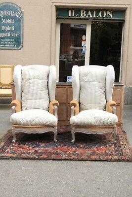 Pair Of Armchairs Bergere, Period Beginning '900 / Couple Armchairs / Armchairs