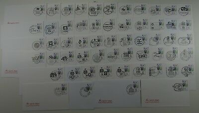 ISRAEL 2004 AMAZING LOT OF CANCELLATION ON POST CANCEL COVER 57pcs - R371