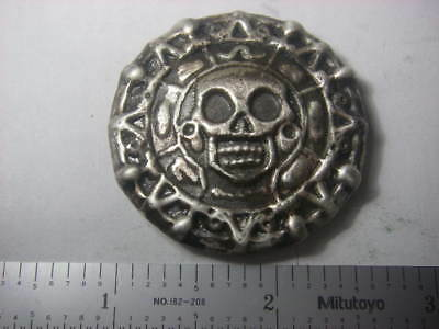 Day of the Dead - Beaver Bullion hand poured 3 troy oz 999 fine silver round