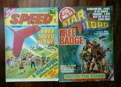 Speed/Starlord Comics (Both Issue No1) Sold as Seen (Free P&P)