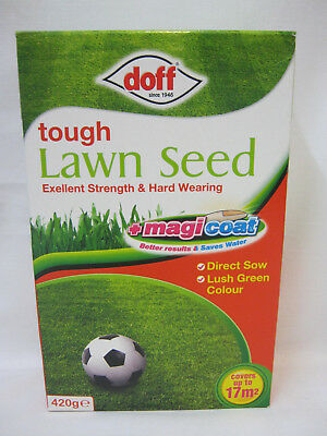 New Doff Tough lawn Seed Excellent Strength And Hard Wearing 420g