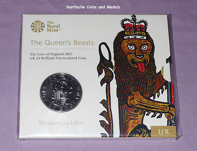 2017 ROYAL MINT SPECIMEN £5 CROWN - QUEEN'S BEASTS - Lion For England