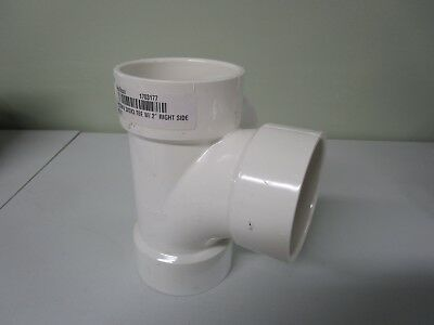 "NIBCO PVC DWV 3 x 3 x 3 TEE WITH/ 2"" RIGHT SIDE INLET- PVC DRAIN FIXTURE"