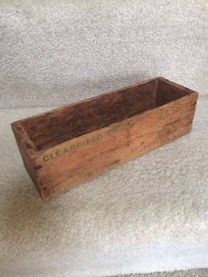 Vintage Cheese Wooden Box Grate Chee-zee Clearfield Co Curwensville Pa 2 Lb