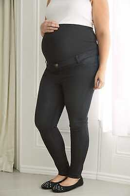 Women's Plus Size Bump It Up Maternity Super Stretch Skinny Jeggings With Comfor