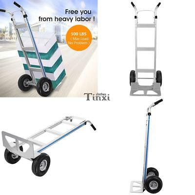 Portable Cart Folding Dolly Push Truck Hand Collapsible Trolley Luggage 500lb US
