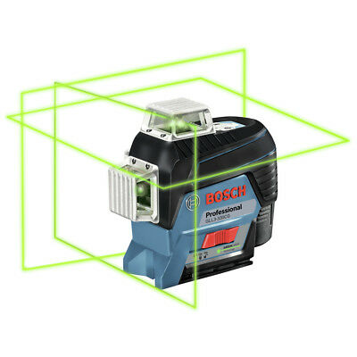 Bosch 360-Degrees Green-Beam Leveling and Alignment-Line Laser GLL3-330CG New