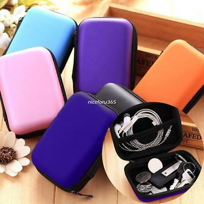 "Case Pouch Bag Storage Holder For Headphone Headset Earphone 1.57"" Hard Disk HOT"