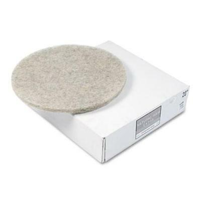 """Premier 4020NHE Natural Hair Extra High-speed Floor Pads, Natural, 20"""" Dia,"""