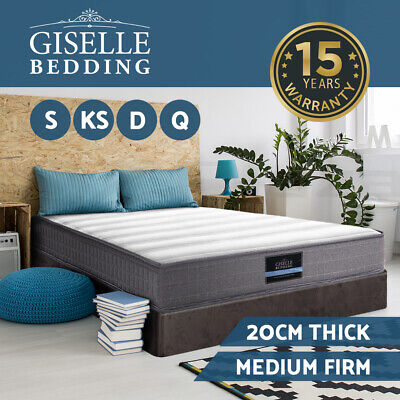 Giselle Bedding Mattress Queen Double King Single Bed Bonnell Spring Foam