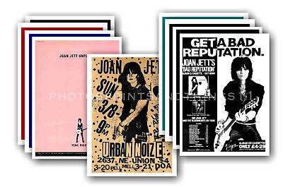 JOAN JETT - 10 promotional posters  collectable postcard set # 2