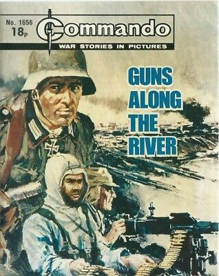 Guns Along The River,commando War Stories In Pictures,no.1656,war Comic,1982