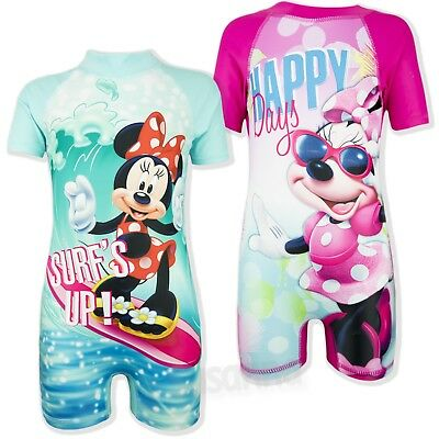 Disney Minnie Mouse Girls Swimsuit Swimming Costume One Piece 2-8 Years New 2018