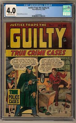 Justice Traps the Guilty #5 CGC 4.0 (SB) Simon and Kirby Art