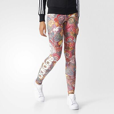 adidas Originals x FARM Women's Fugiprabali Floral Print Tight Fit Leggings
