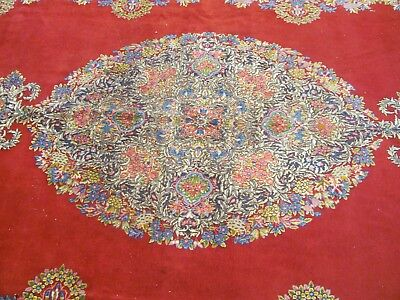 ANTIQUE BEAUTIFUL OLD HANDMADE KERMEN PERSIAN XL CARPET (477 x 290 cm)