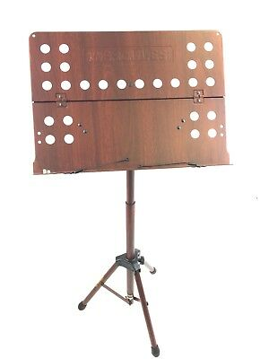 Hercules BS311B Orchestra Ez Clutch Stand, Perforated Desk Limited Edition Brown