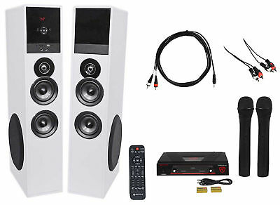 Rockville All-in-one Bluetooth Home Theater/Karaoke Machine System+Wireless Mics