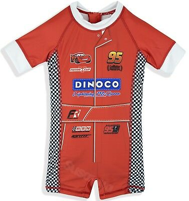 Disney Pixar Cars Boys Swimming Costume Swimsuit Sunsuit 1-5 Years New 2018