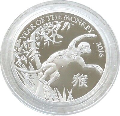 2016 Royal Mint British Lunar Monkey £2 Two Pound Silver Proof 1oz Coin Box Coa