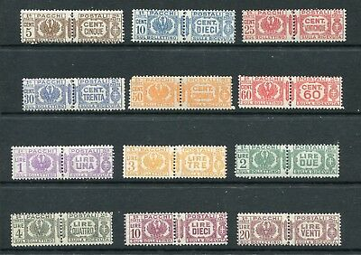 ITALY 1927-32 PACCHI PARCEL MNH set to 20L 12 Stamps
