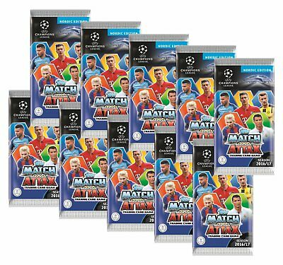Topps Champions League Match Attax 2016/17 - 10 Booster - Nordic Edition