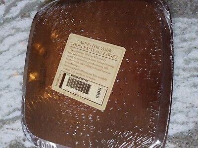 Longaberger Rich Brown Stain Medium Berry Basket Lid MINT never used RARE!