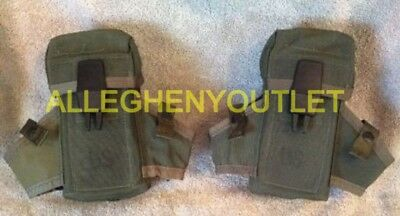 Lot of 2 US Military Army USMC OD Ammo Case Pouch LC1 Alice 3 Mag Pouch VGC