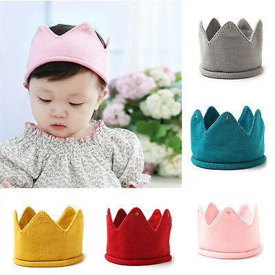 Newest Model Baby Winter Hat Knitted Crown Model Headwear Cute Headband for Kids