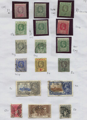 Nigeria / Oil Rivers MH / MNH / Used 2 Pages, GV, EDVII Etc CV £77