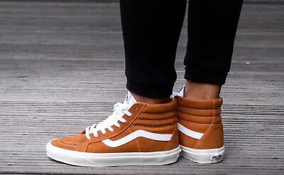 3fbbe74c91954c Vans Sk8-Hi Reissue RETRO SPORT SKATE Shoes Men s Size 9  70 Glazed Ginger