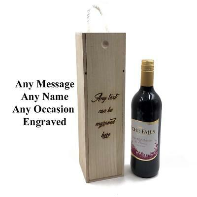 Personalised Wooden Bottle Holder Custom Engraved Any Message STO020