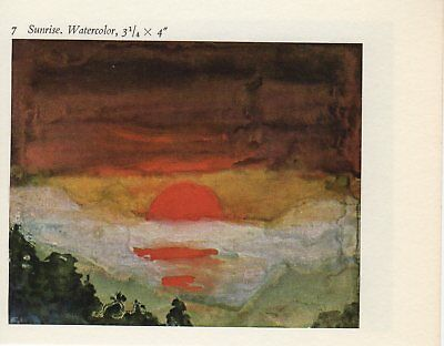 "1959 Vintage EMIL NOLDE /""THE SEA/"" FABULOUS OCEAN COLOR Offset Lithograph"